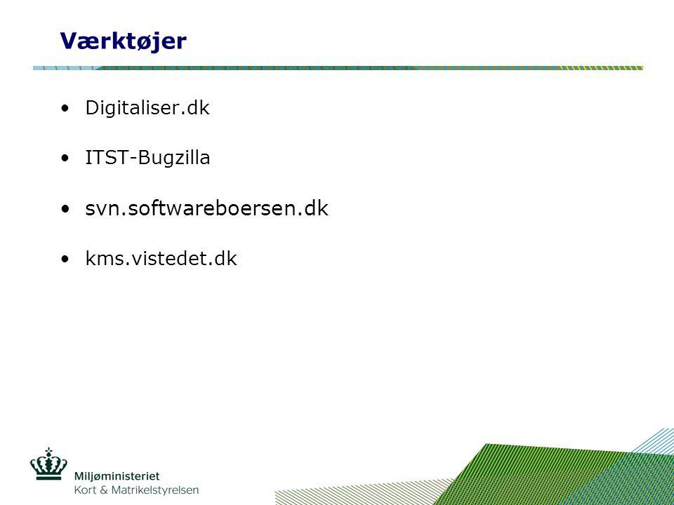Værktøjer Digitaliser.dk ITST-Bugzilla svn.softwareboersen.dk kms.vistedet.dk
