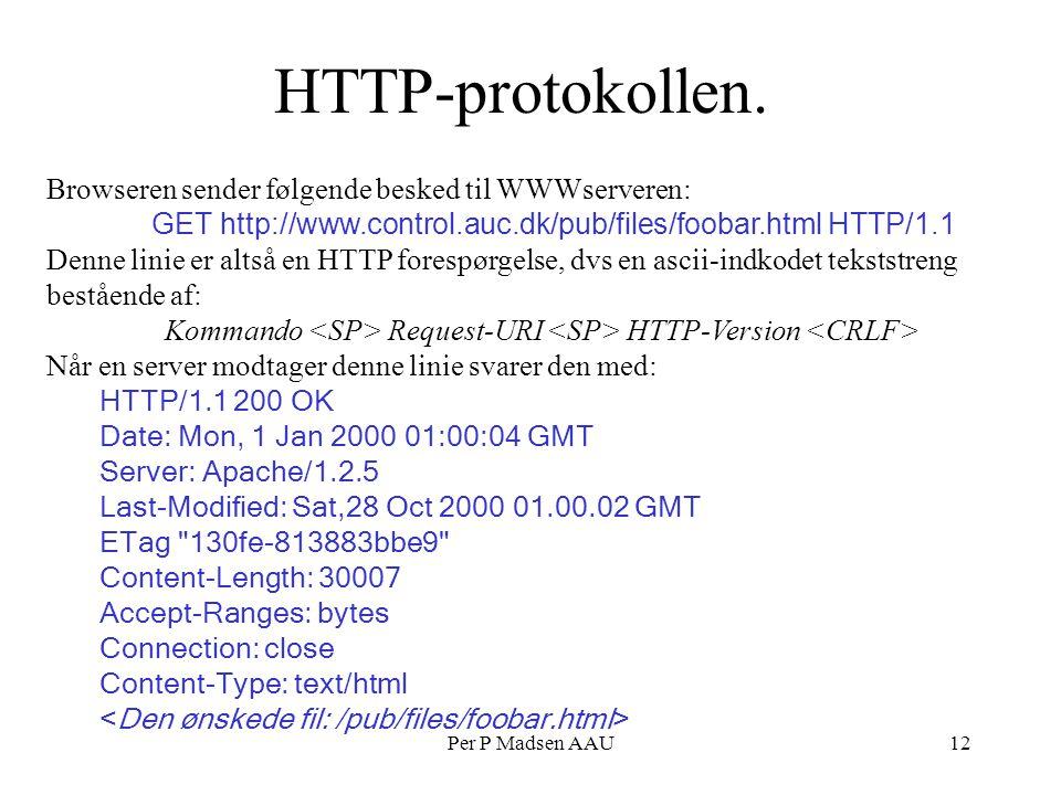 Per P Madsen AAU12 HTTP-protokollen.