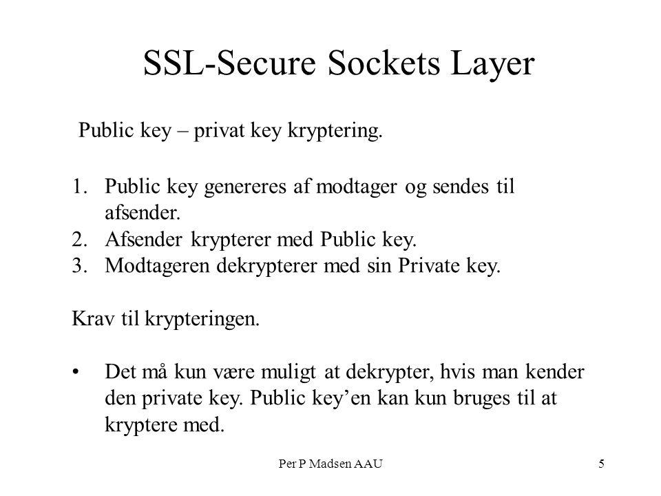 Per P Madsen AAU5 SSL-Secure Sockets Layer Public key – privat key kryptering.