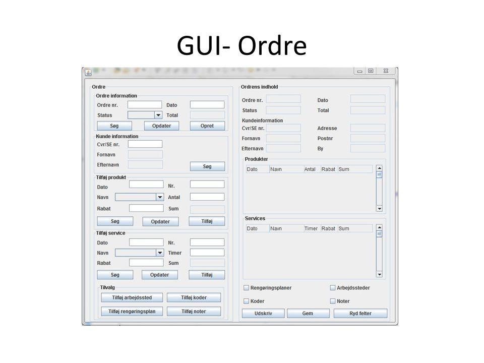 GUI- Ordre