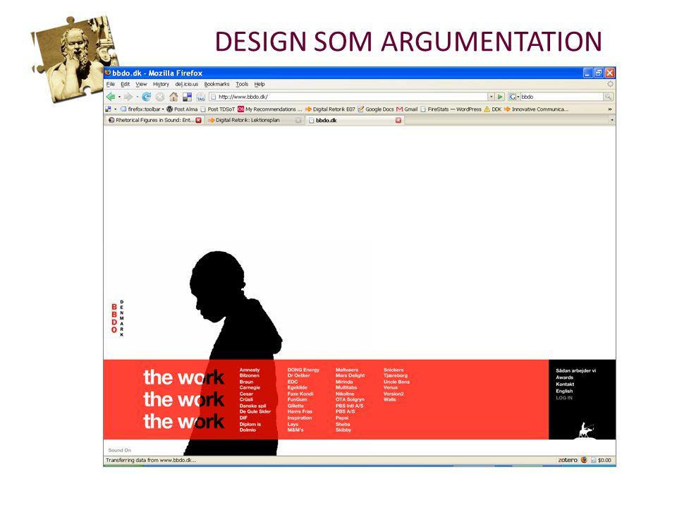 DESIGN SOM ARGUMENTATION