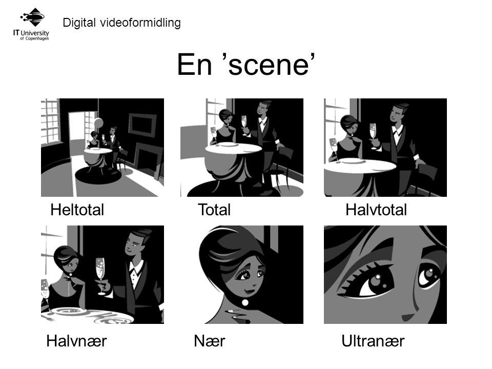 Digital videoformidling En 'scene' HeltotalTotalHalvtotal HalvnærNærUltranær