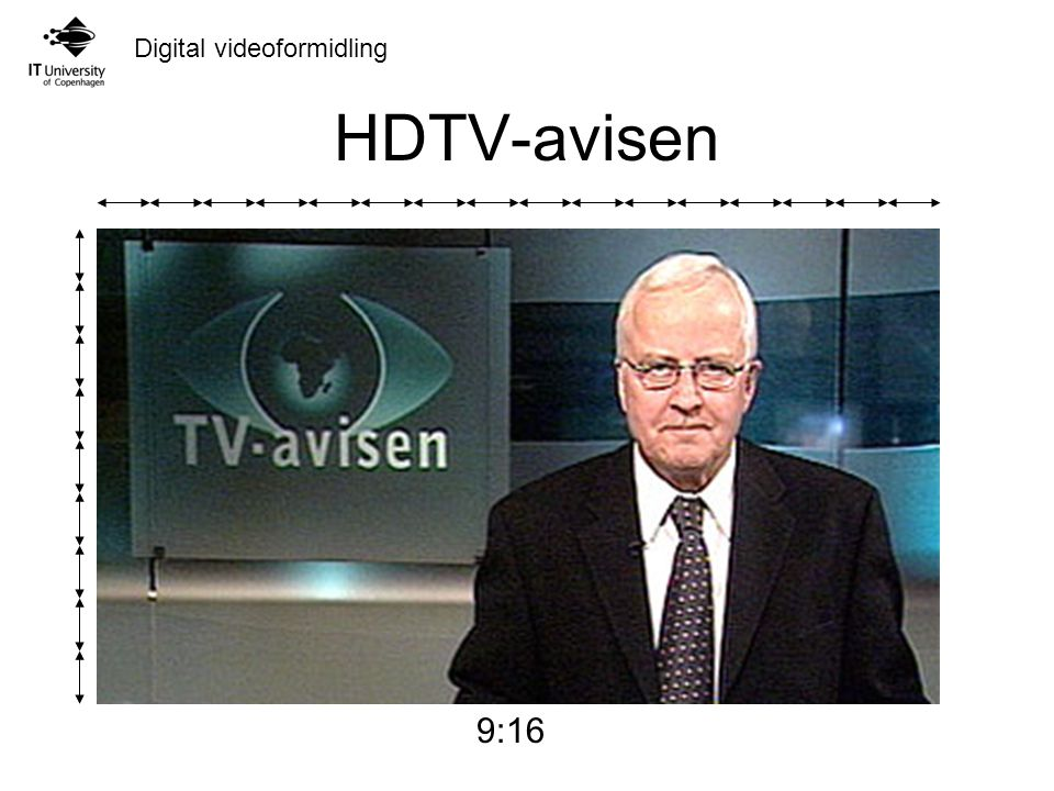 Digital videoformidling HDTV-avisen 9:16