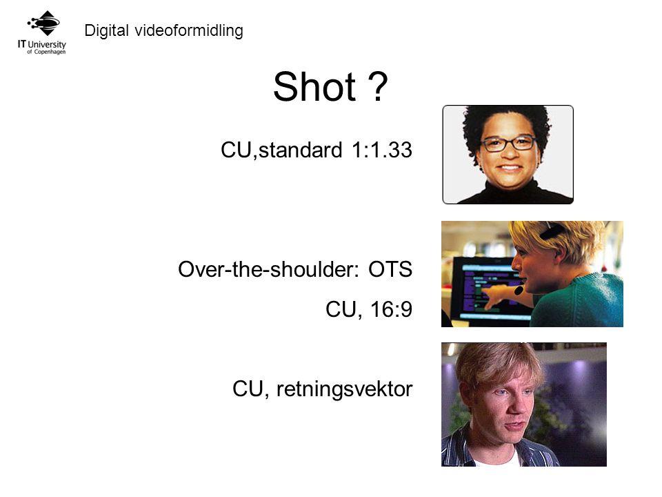 Digital videoformidling Shot .