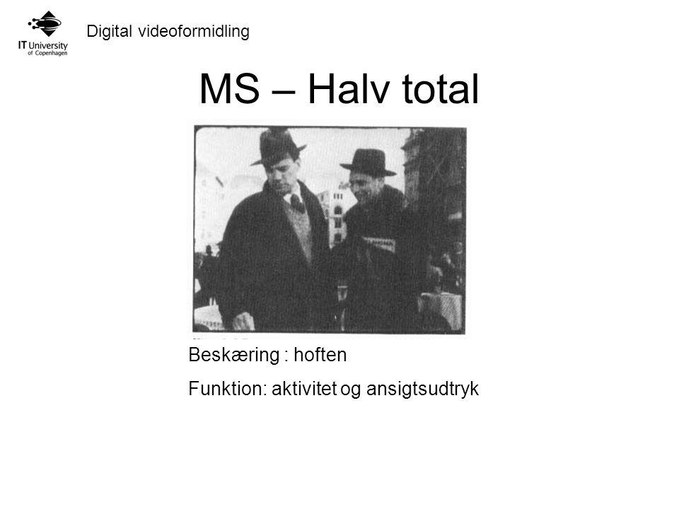 Digital videoformidling MS – Halv total Beskæring : hoften Funktion: aktivitet og ansigtsudtryk