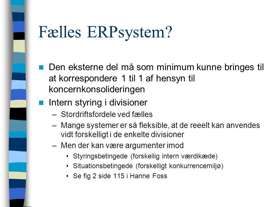 Fælles ERPsystem.