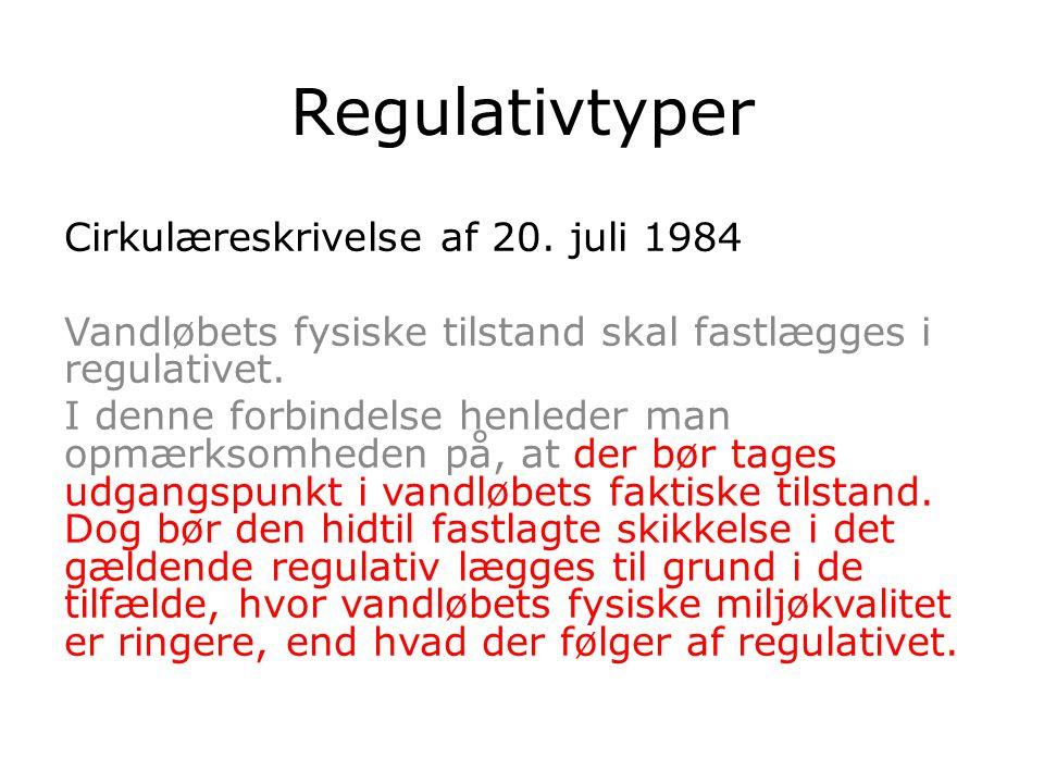 Regulativtyper Cirkulæreskrivelse af 20.