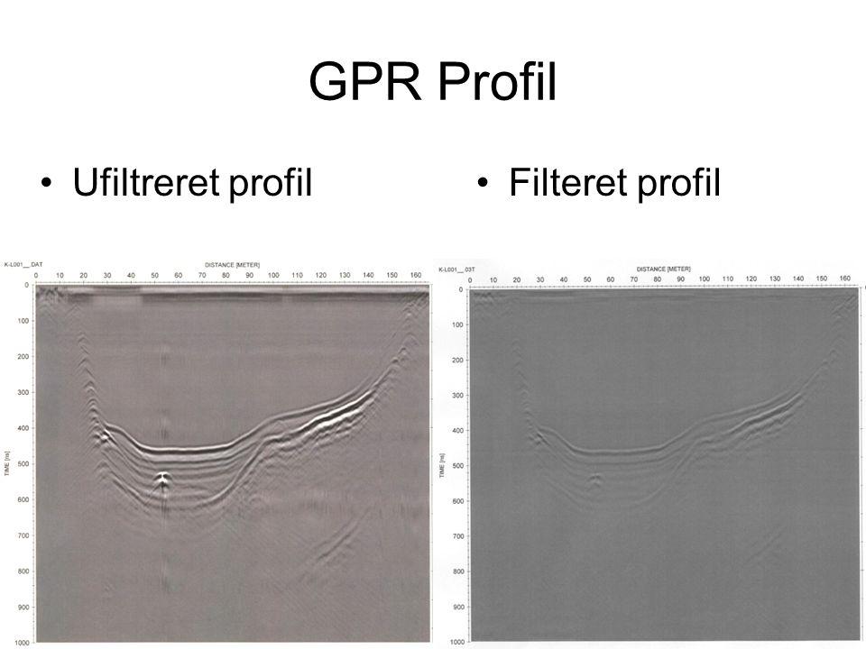 GPR Profil Ufiltreret profilFilteret profil