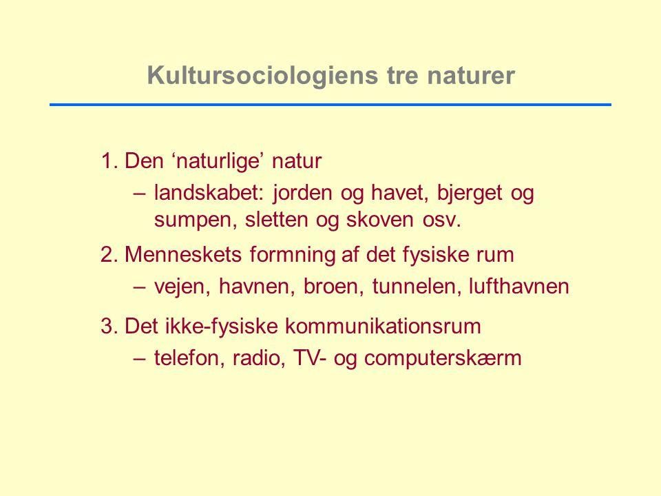 Kultursociologiens tre naturer 1.