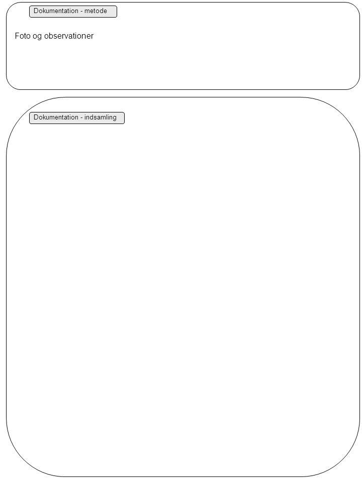 Dokumentation - metode Dokumentation - indsamling Foto og observationer