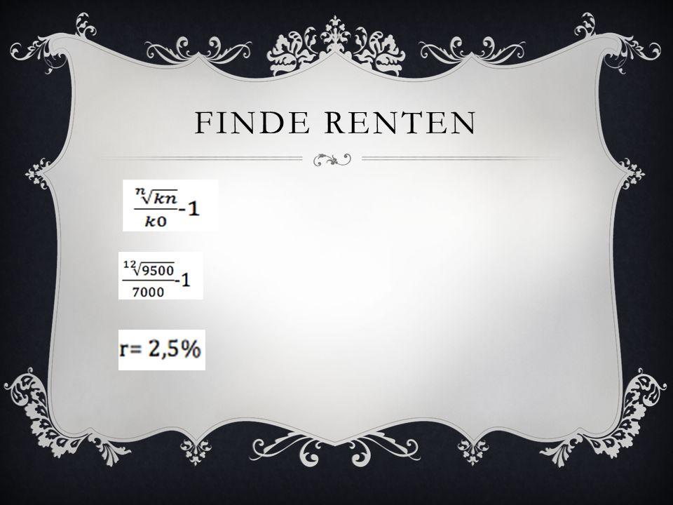 FINDE RENTEN
