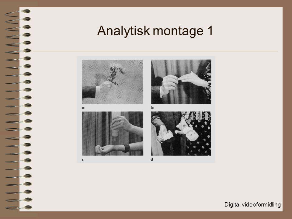 Digital videoformidling Analytisk montage 1