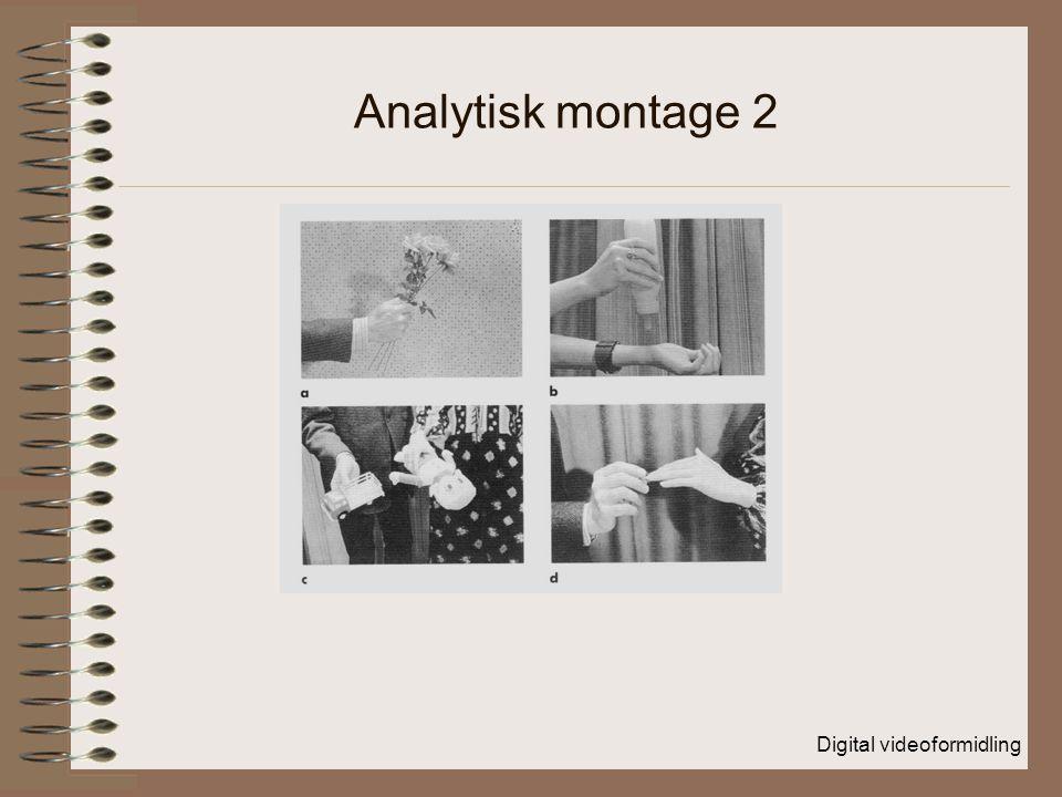 Digital videoformidling Analytisk montage 2