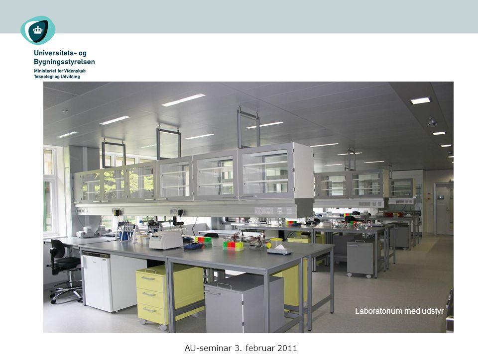 Laboratorium med udstyr AU-seminar 3. februar 2011