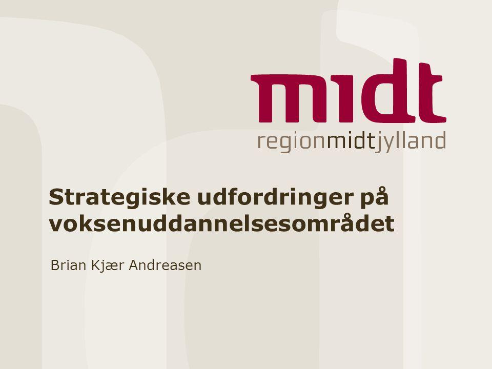 Strategiske udfordringer på voksenuddannelsesområdet Brian Kjær Andreasen