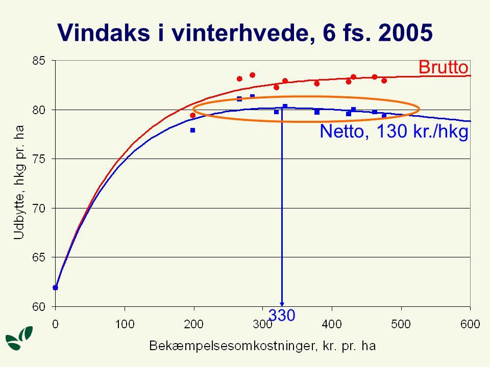 Vindaks i vinterhvede, 6 fs. 2005 Brutto Netto, 130 kr./hkg 330