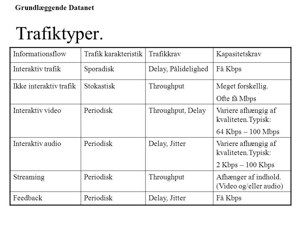 Grundlæggende Datanet Trafiktyper.