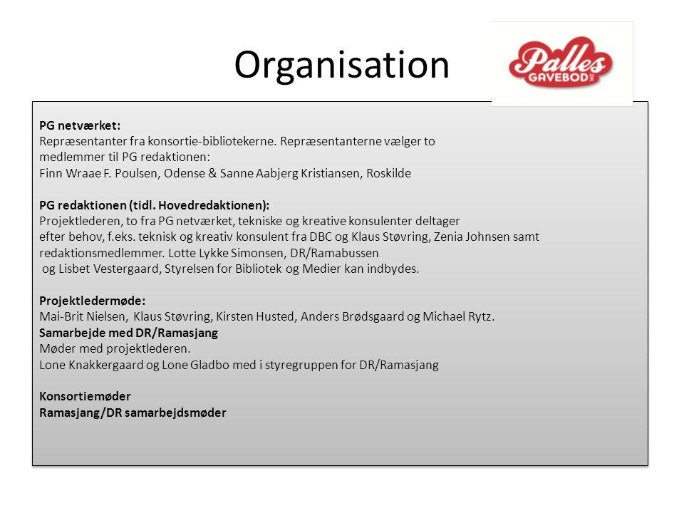 Organisation PG netværket: Repræsentanter fra konsortie-bibliotekerne.