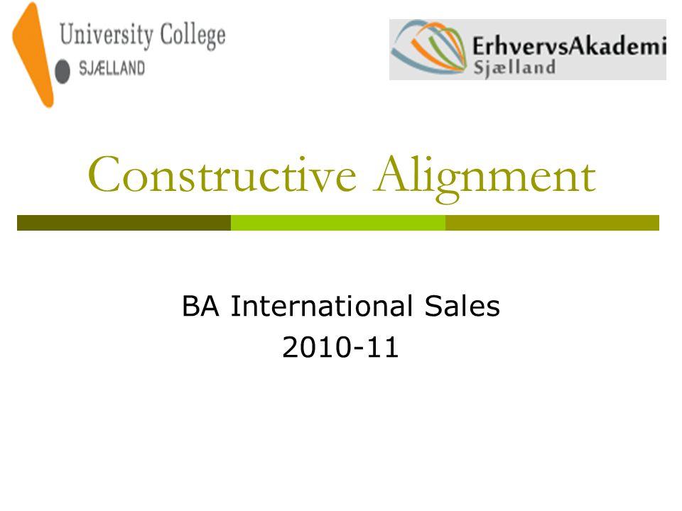 Constructive Alignment BA International Sales 2010-11