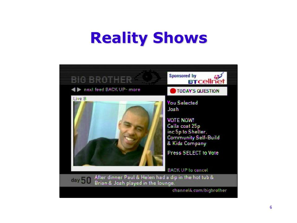 6 Reality Shows