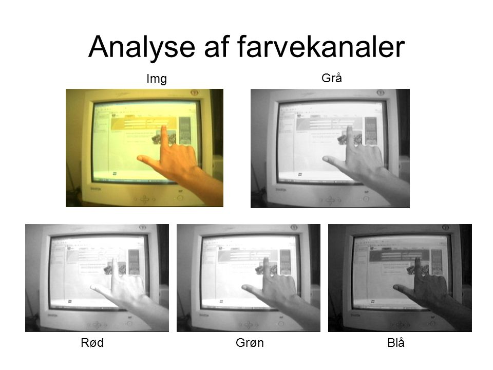 Analyse af farvekanaler RødGrønBlå Img Grå