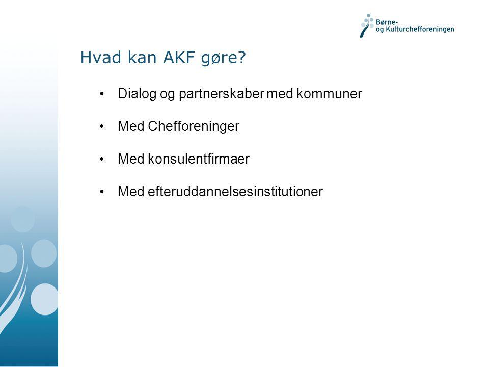 Hvad kan AKF gøre.