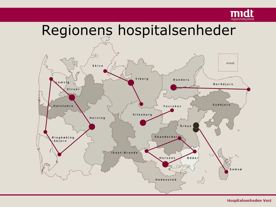 Hospitalsenheden Vest Regionens hospitalsenheder