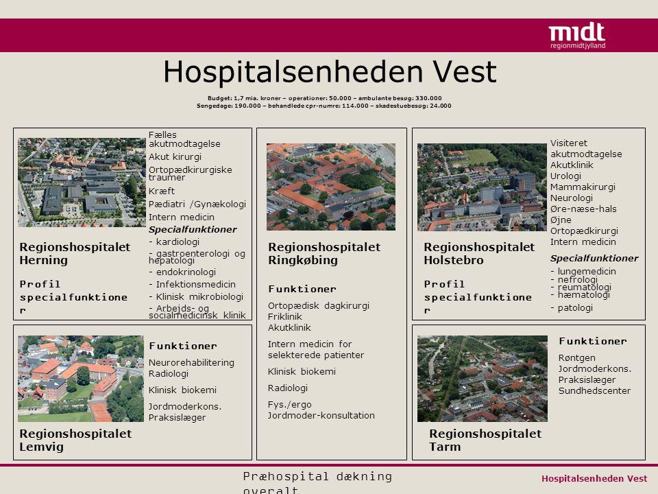 Hospitalsenheden Vest Budget: 1,7 mia.
