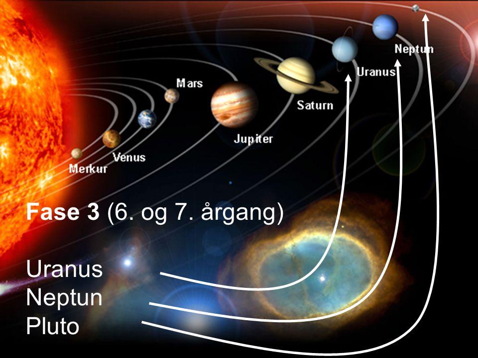 Fase 3 (6. og 7. årgang) Uranus Neptun Pluto