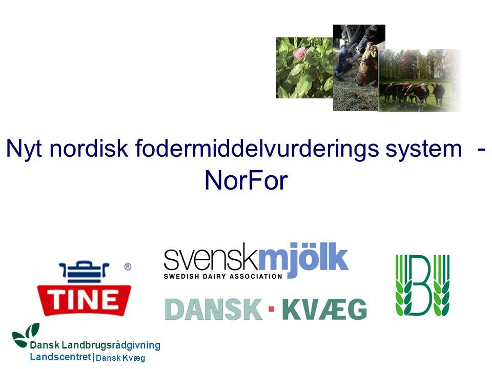 Dansk Landbrugsrådgivning Landscentret | Dansk Kvæg S:\SUNDFODE\OEA\Fodringsdag 2004\Ole Aaes.ppt Nyt nordisk fodermiddelvurderings system - NorFor