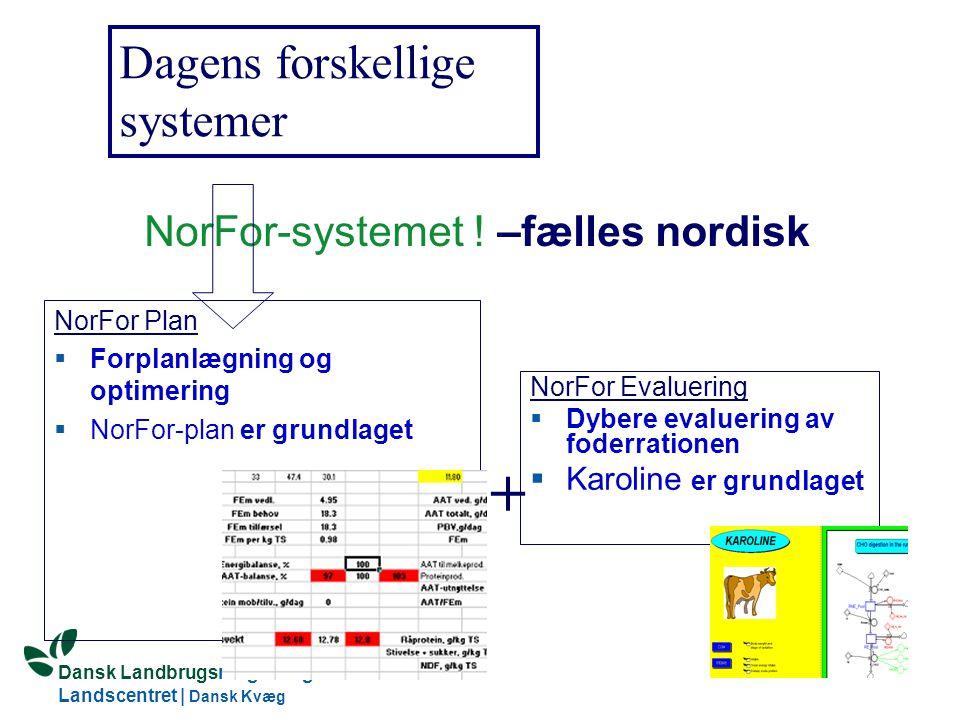 Dansk Landbrugsrådgivning Landscentret | Dansk Kvæg S:\SUNDFODE\OEA\Fodringsdag 2004\Ole Aaes.ppt NorFor-systemet .