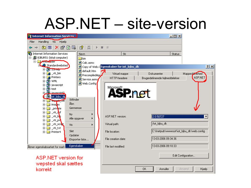 ASP.NET – site-version