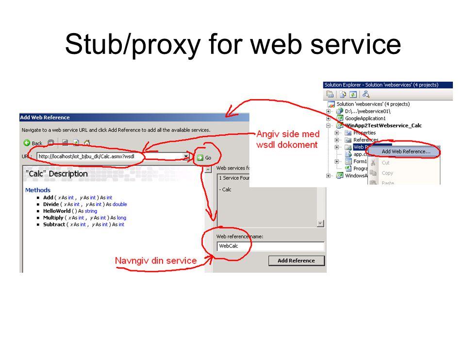 Stub/proxy for web service
