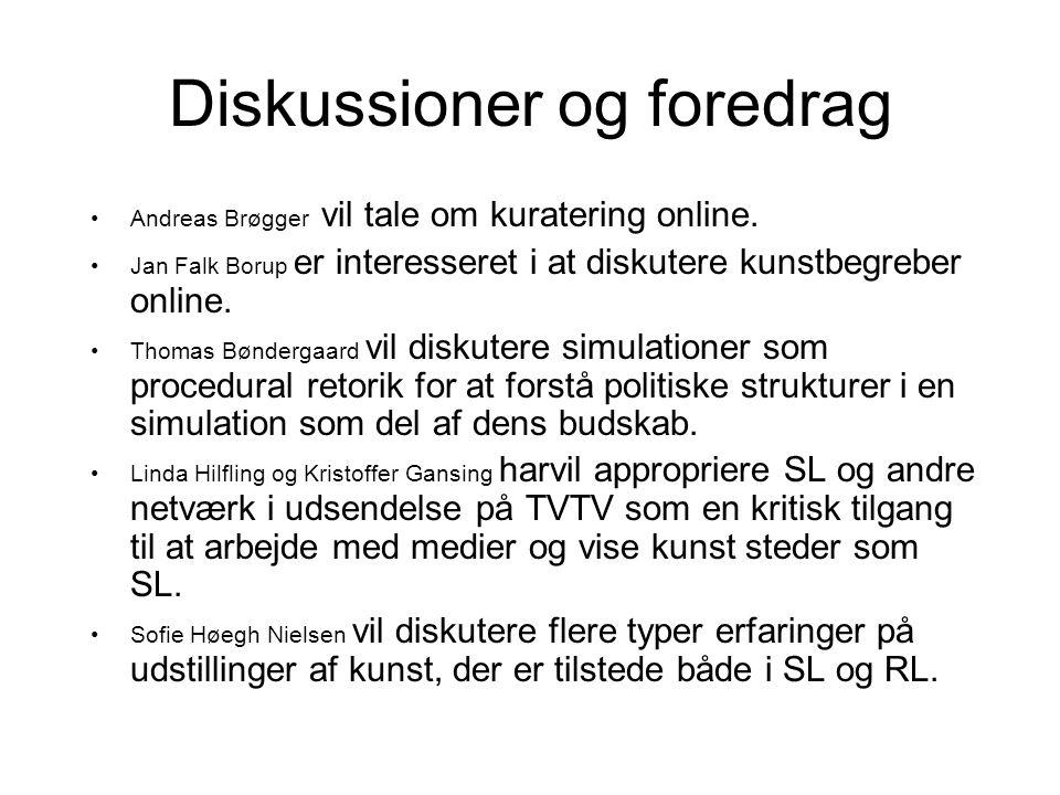 Diskussioner og foredrag Andreas Brøgger vil tale om kuratering online.