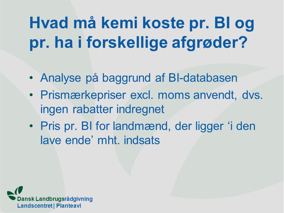 Dansk Landbrugsrådgivning Landscentret | Planteavl Hvad må kemi koste pr.