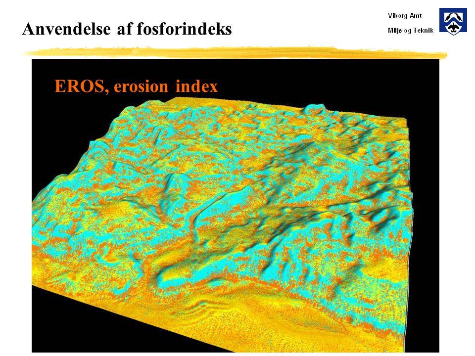 Anvendelse af fosforindeks EROS, erosion index