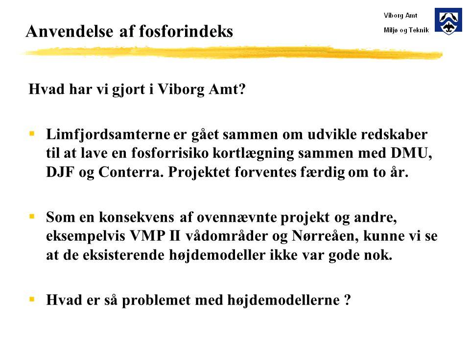 Anvendelse af fosforindeks Hvad har vi gjort i Viborg Amt.