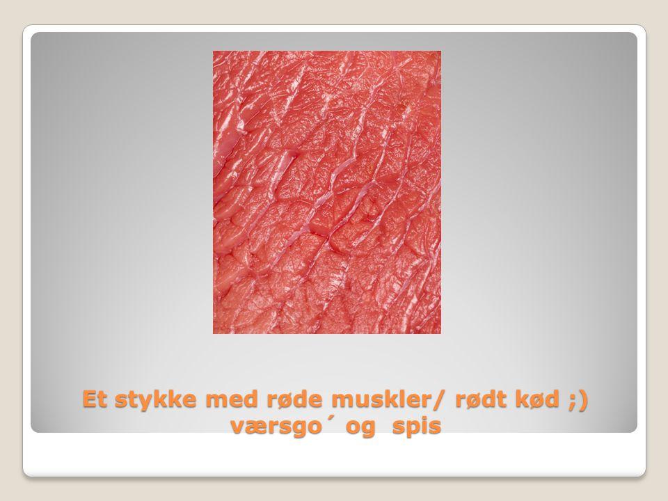Et stykke med røde muskler/ rødt kød ;) værsgo´ og spis