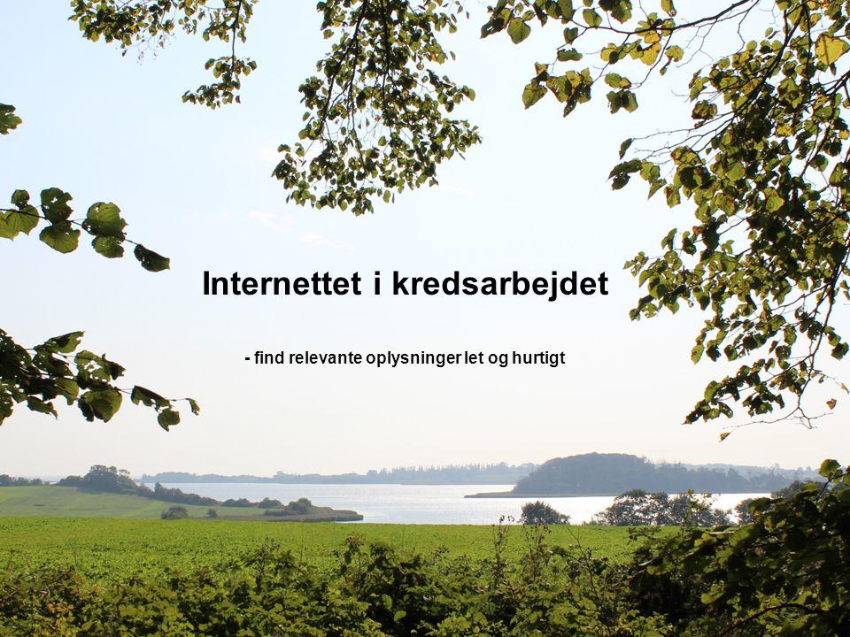 Internettet i kredsarbejdet - find relevante oplysninger let og hurtigt