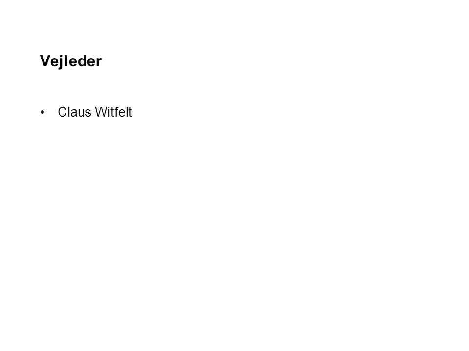 Vejleder Claus Witfelt