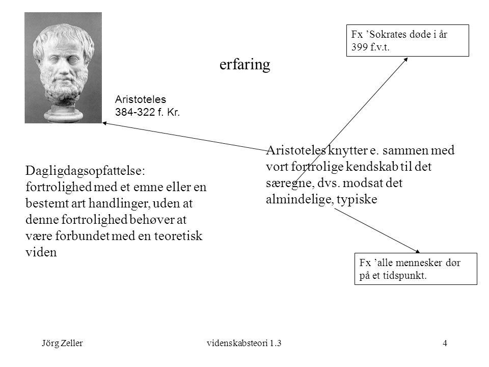 Jörg Zellervidenskabsteori 1.34 erfaring Aristoteles knytter e.