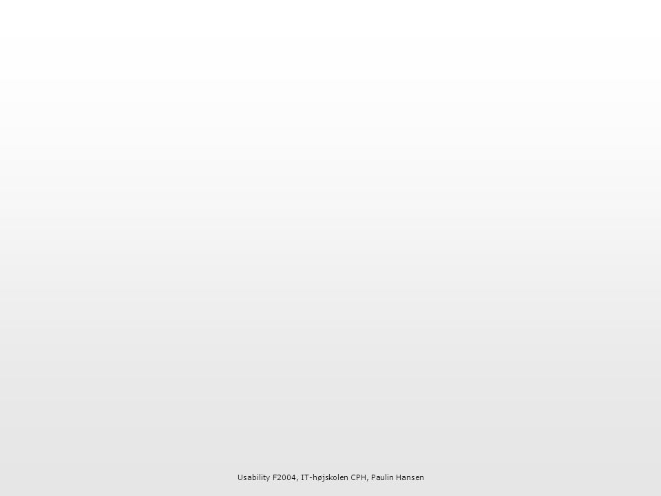 Usability F2004, IT-højskolen CPH, Paulin Hansen