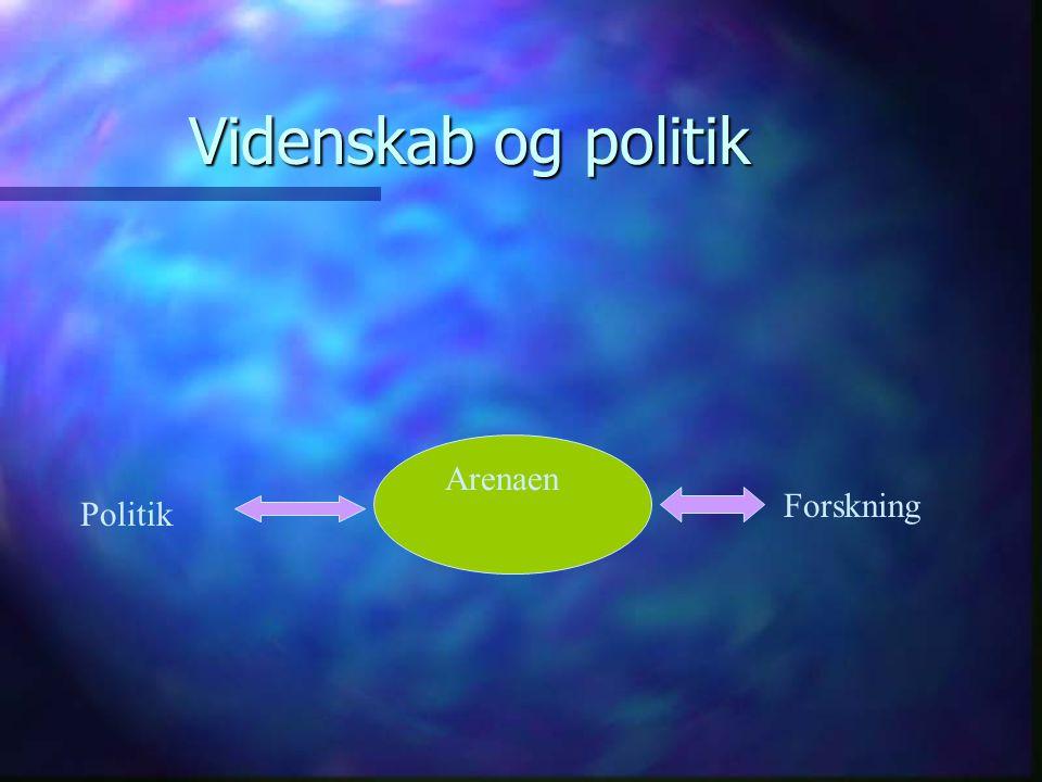 Videnskab og politik Politik Forskning Arenaen