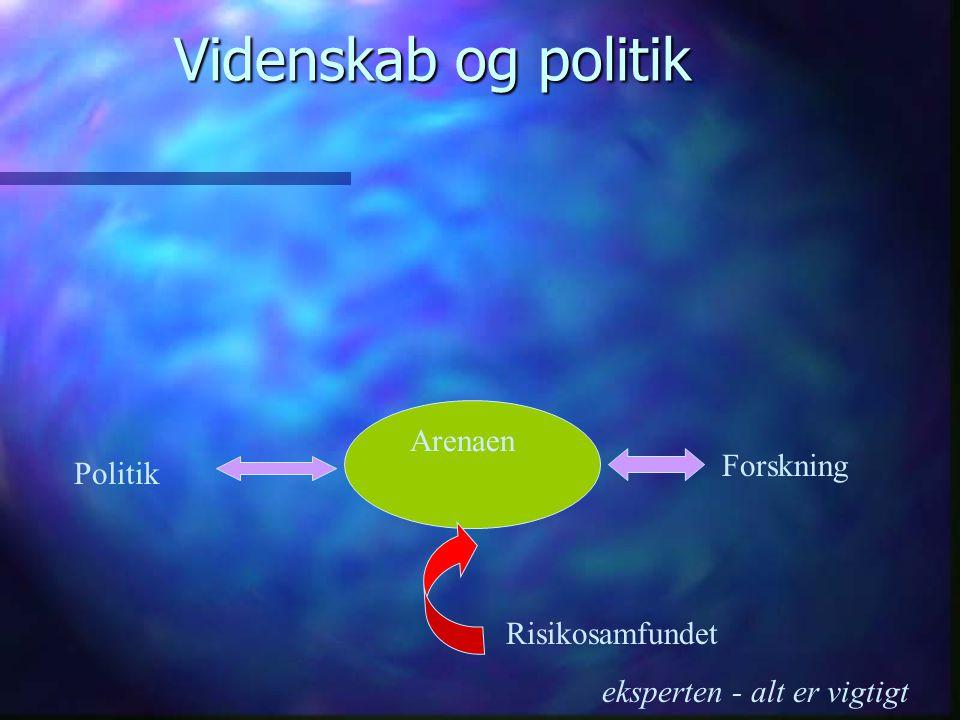 Videnskab og politik Politik Forskning Arenaen Risikosamfundet eksperten - alt er vigtigt