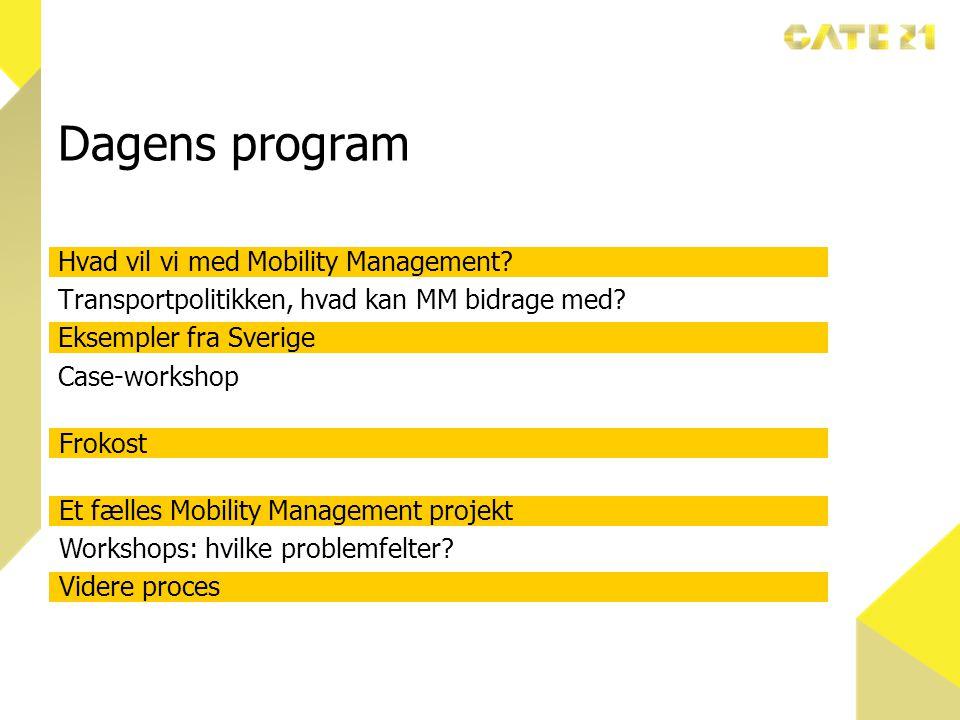 Dagens program Hvad vil vi med Mobility Management.
