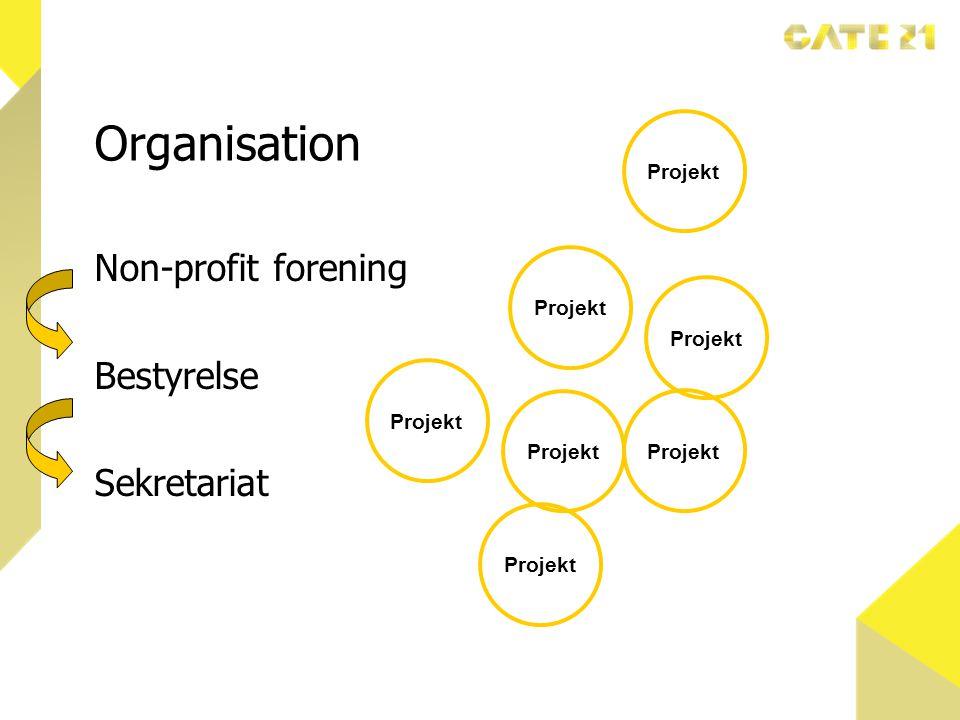 Organisation Non-profit forening Bestyrelse Sekretariat Projekt