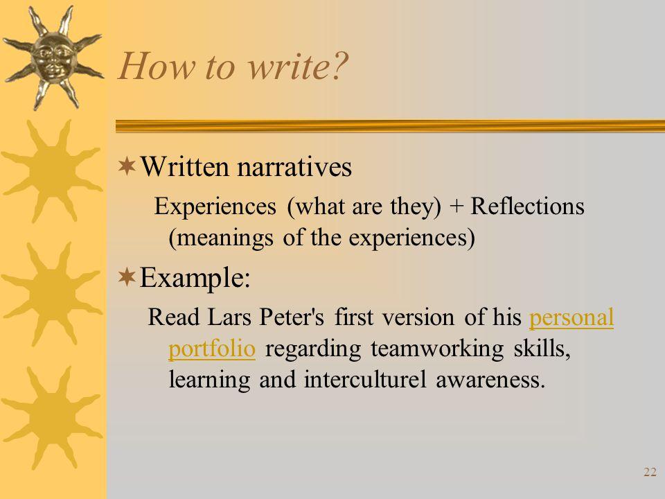 22 How to write.