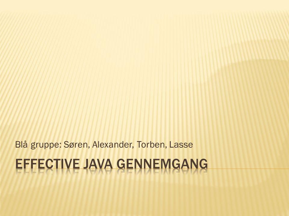 Blå gruppe: Søren, Alexander, Torben, Lasse