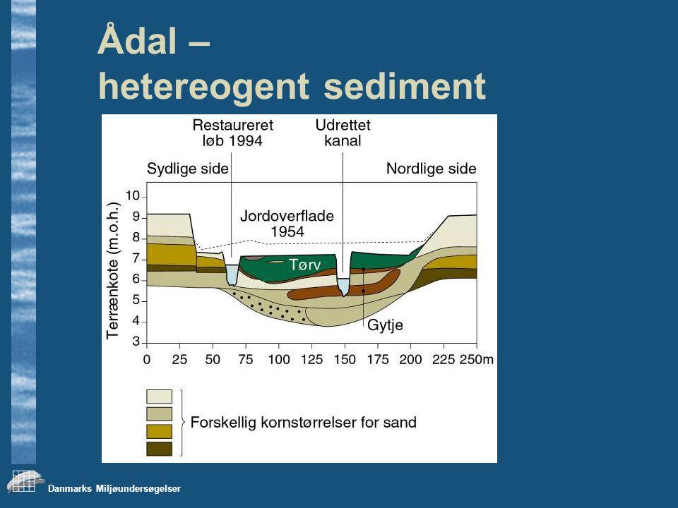 Danmarks Miljøundersøgelser Ådal – hetereogent sediment