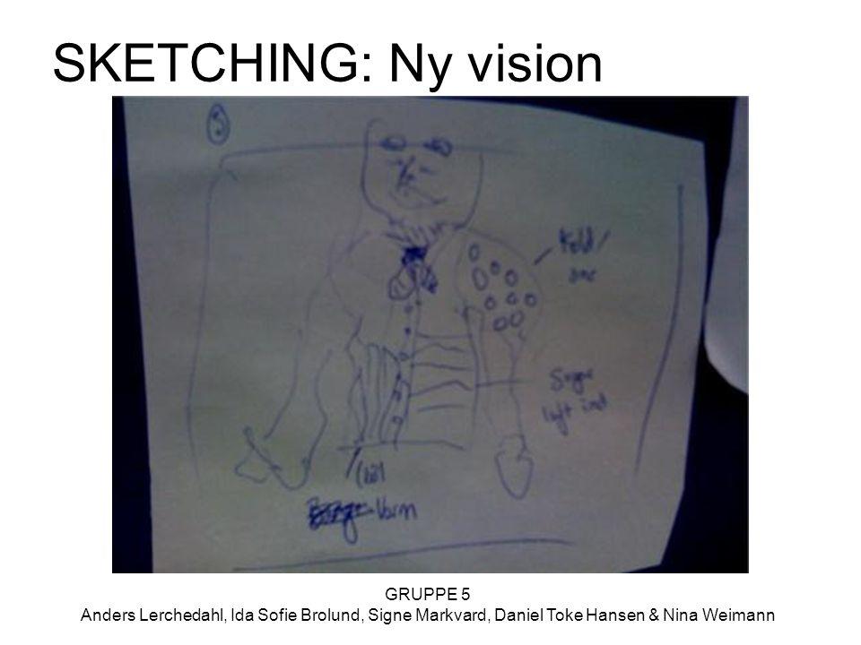 GRUPPE 5 Anders Lerchedahl, Ida Sofie Brolund, Signe Markvard, Daniel Toke Hansen & Nina Weimann SKETCHING: Ny vision